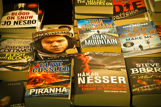 Top Bestseller auf einem Haufen